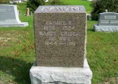 CRIDER HAWK, NANCY - Vinton County, Ohio | NANCY CRIDER HAWK - Ohio Gravestone Photos