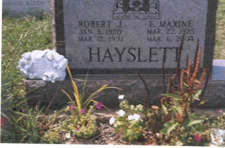 HAYSLETT, ROBERT J. - Vinton County, Ohio | ROBERT J. HAYSLETT - Ohio Gravestone Photos