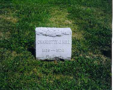 HILL, CHARLOTTE J - Vinton County, Ohio | CHARLOTTE J HILL - Ohio Gravestone Photos
