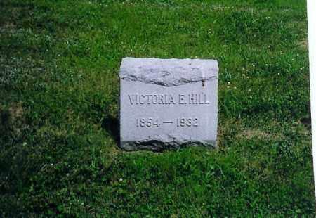 HILL, VICTORIA E - Vinton County, Ohio | VICTORIA E HILL - Ohio Gravestone Photos