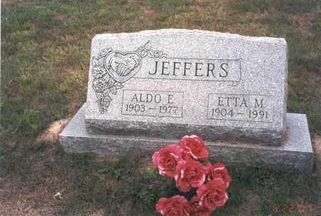 JEFFERS, ALDO E. - Vinton County, Ohio | ALDO E. JEFFERS - Ohio Gravestone Photos
