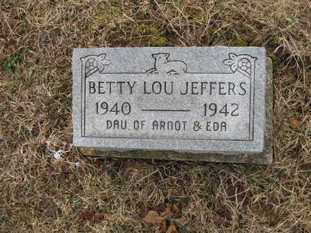JEFFERS, BETTY LOU - Vinton County, Ohio | BETTY LOU JEFFERS - Ohio Gravestone Photos