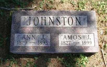JOHNSTON, AMOS J. - Vinton County, Ohio | AMOS J. JOHNSTON - Ohio Gravestone Photos