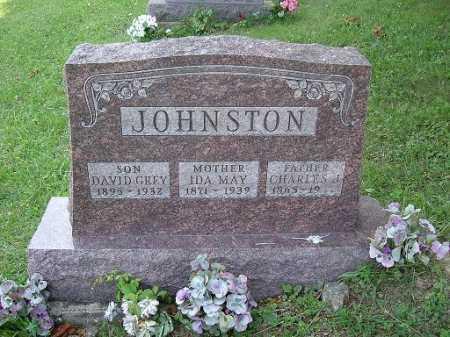 JOHNSTON, DAVID GREY - Vinton County, Ohio   DAVID GREY JOHNSTON - Ohio Gravestone Photos