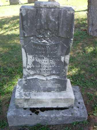 JOHNSTON, NANCY J - Vinton County, Ohio | NANCY J JOHNSTON - Ohio Gravestone Photos