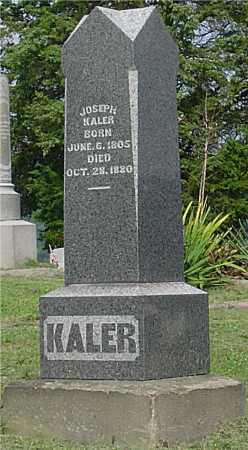 KALER, JOSEPH - Vinton County, Ohio | JOSEPH KALER - Ohio Gravestone Photos