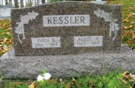 KESSLER, IVAN B. - Vinton County, Ohio | IVAN B. KESSLER - Ohio Gravestone Photos