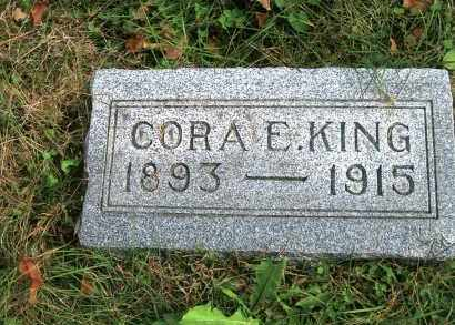 KING, CORA E - Vinton County, Ohio   CORA E KING - Ohio Gravestone Photos