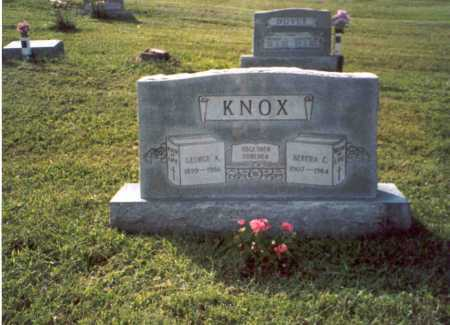 CALVIN KNOX, BERTHA - Vinton County, Ohio | BERTHA CALVIN KNOX - Ohio Gravestone Photos