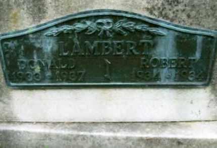 LAMBERT   (CLOSEUP VIEW), ROBERT LEE - Vinton County, Ohio | ROBERT LEE LAMBERT   (CLOSEUP VIEW) - Ohio Gravestone Photos