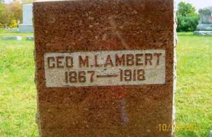 LAMBERT, GEORGE MADISON, JR - Vinton County, Ohio | GEORGE MADISON, JR LAMBERT - Ohio Gravestone Photos