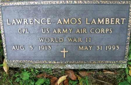 LAMBERT, LAWRENCE AMOS - Vinton County, Ohio | LAWRENCE AMOS LAMBERT - Ohio Gravestone Photos