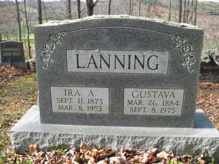 LANNING, IRA A. - Vinton County, Ohio | IRA A. LANNING - Ohio Gravestone Photos