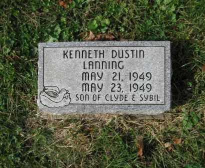 LANNING, KENNETH DUSTIN - Vinton County, Ohio   KENNETH DUSTIN LANNING - Ohio Gravestone Photos