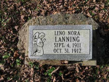 LANNING, LENO NORA - Vinton County, Ohio | LENO NORA LANNING - Ohio Gravestone Photos