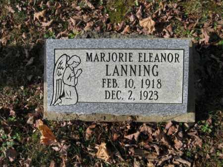 LANNING, MARJORIE ELEANOR - Vinton County, Ohio | MARJORIE ELEANOR LANNING - Ohio Gravestone Photos
