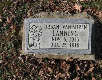 LANNING, URBAN VANBUREN - Vinton County, Ohio | URBAN VANBUREN LANNING - Ohio Gravestone Photos