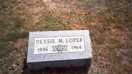 JORDAN LOPER, DESSIE M. - Vinton County, Ohio | DESSIE M. JORDAN LOPER - Ohio Gravestone Photos