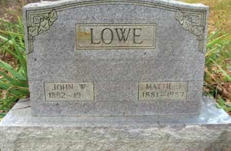 LOWE, MATTIE J. - Vinton County, Ohio | MATTIE J. LOWE - Ohio Gravestone Photos