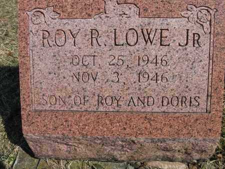 LOWE, ROY ROBERT, JR. - Vinton County, Ohio | ROY ROBERT, JR. LOWE - Ohio Gravestone Photos
