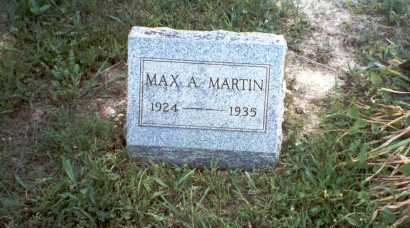 MARTIN, MAX A. - Vinton County, Ohio | MAX A. MARTIN - Ohio Gravestone Photos