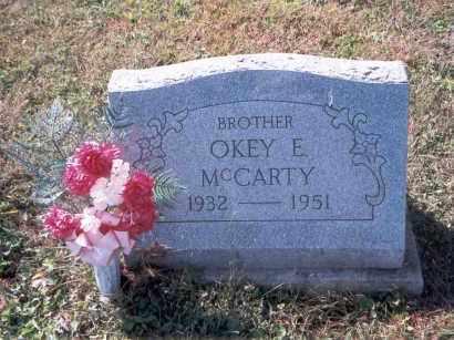 MCCARTY, OKEY EUGENE - Vinton County, Ohio   OKEY EUGENE MCCARTY - Ohio Gravestone Photos