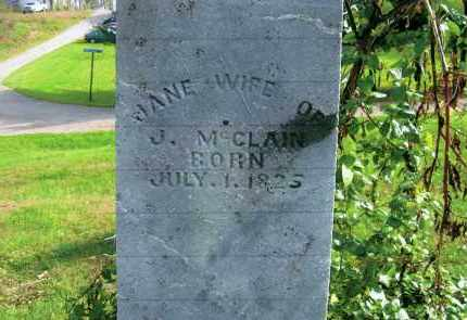 HINSHILLWOOD MCCLAIN, JANE - Vinton County, Ohio   JANE HINSHILLWOOD MCCLAIN - Ohio Gravestone Photos
