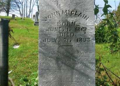 MCCLAIN, JOHN - Vinton County, Ohio | JOHN MCCLAIN - Ohio Gravestone Photos
