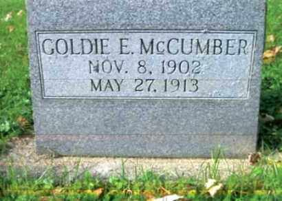 MCCUMBER, GOLDIE EDNA - Vinton County, Ohio | GOLDIE EDNA MCCUMBER - Ohio Gravestone Photos