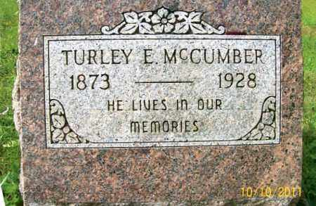 MCCUMBER, TURLEY E. - Vinton County, Ohio | TURLEY E. MCCUMBER - Ohio Gravestone Photos