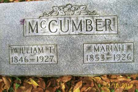 MCCUMBER, MARIAH - Vinton County, Ohio | MARIAH MCCUMBER - Ohio Gravestone Photos