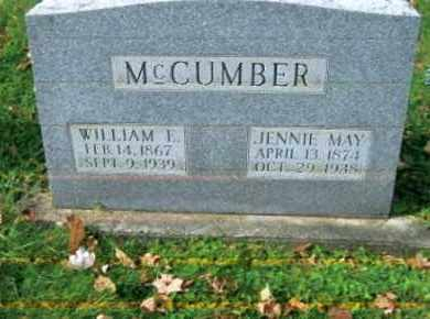 MCCANN MCCUMBER, JENNIE MAY - Vinton County, Ohio | JENNIE MAY MCCANN MCCUMBER - Ohio Gravestone Photos