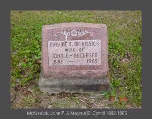 COTTRILL MCKISSICK, MAYME - Vinton County, Ohio   MAYME COTTRILL MCKISSICK - Ohio Gravestone Photos