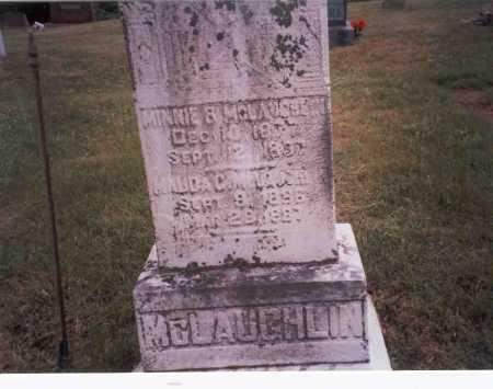 MCLAUGHLIN, MINNIE - Vinton County, Ohio   MINNIE MCLAUGHLIN - Ohio Gravestone Photos