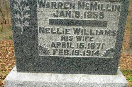 MCMILLIN, NELLIE - Vinton County, Ohio | NELLIE MCMILLIN - Ohio Gravestone Photos