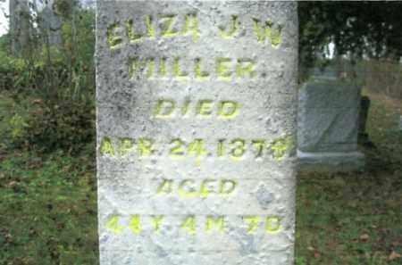 WELLS MILLER, ELIZA J. W. - Vinton County, Ohio | ELIZA J. W. WELLS MILLER - Ohio Gravestone Photos