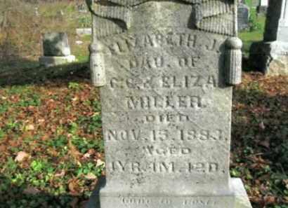 MILLER, ELIZABETH J. - Vinton County, Ohio   ELIZABETH J. MILLER - Ohio Gravestone Photos