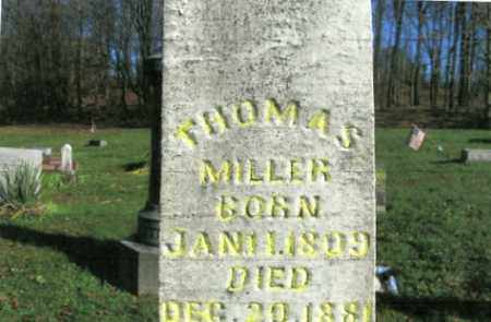 MILLER, THOMAS - Vinton County, Ohio | THOMAS MILLER - Ohio Gravestone Photos