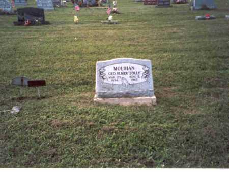 "MOLIHAN, GEORGE ELMER ""JOLLY"" - Vinton County, Ohio   GEORGE ELMER ""JOLLY"" MOLIHAN - Ohio Gravestone Photos"