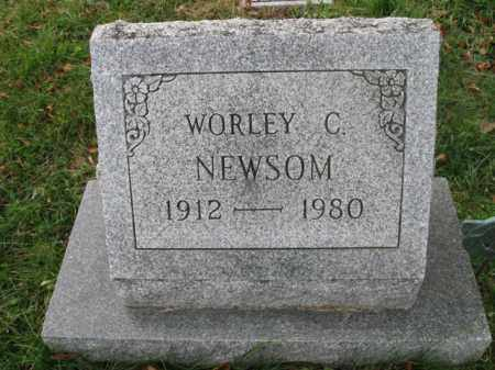 NEWSOM, WORLEY C. - Vinton County, Ohio   WORLEY C. NEWSOM - Ohio Gravestone Photos