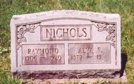 NICHOLS, ALVA F. - Vinton County, Ohio   ALVA F. NICHOLS - Ohio Gravestone Photos