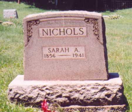 NICHOLS, SARAH A. - Vinton County, Ohio | SARAH A. NICHOLS - Ohio Gravestone Photos