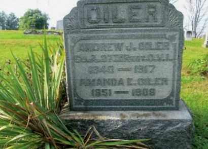 OILER, AMANDA E - Vinton County, Ohio | AMANDA E OILER - Ohio Gravestone Photos