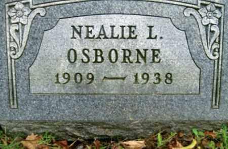 OSBORNE, NEALIE - Vinton County, Ohio | NEALIE OSBORNE - Ohio Gravestone Photos