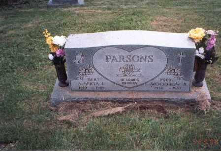 "PEARCE PARSONS, ALBERTA ""BERT"" - Vinton County, Ohio | ALBERTA ""BERT"" PEARCE PARSONS - Ohio Gravestone Photos"