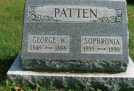 MCCARLEY PATTEN, SOPHRONIA - Vinton County, Ohio | SOPHRONIA MCCARLEY PATTEN - Ohio Gravestone Photos
