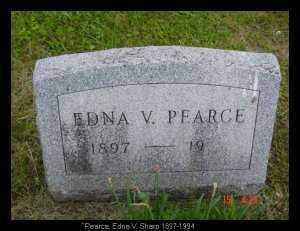 SHARP PEARCE, EDNA V. - Vinton County, Ohio   EDNA V. SHARP PEARCE - Ohio Gravestone Photos