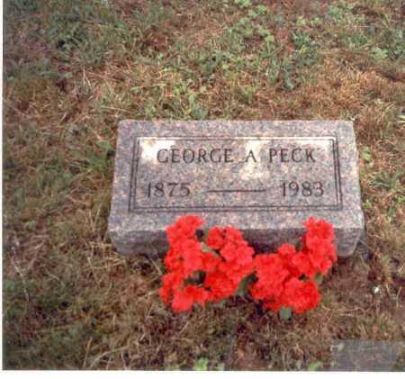 PECK, GEORGE A. - Vinton County, Ohio   GEORGE A. PECK - Ohio Gravestone Photos