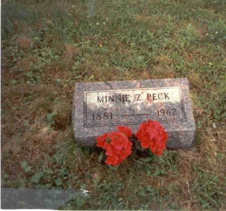 RIFFLE PECK, MINNIE Z. - Vinton County, Ohio | MINNIE Z. RIFFLE PECK - Ohio Gravestone Photos