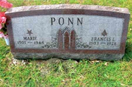 PONN, MARIE - Vinton County, Ohio | MARIE PONN - Ohio Gravestone Photos